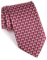 Salvatore Ferragamo Chicken & Egg Print Silk Tie