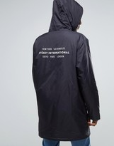 Stussy Hooded Coach Jacket With Back Print