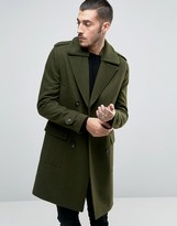 Asos Wool Mix Overcoat wih Fleece Collar