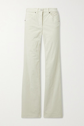 Nili Lotan Celia Cotton-blend Corduroy Straight-leg Pants - Ivory