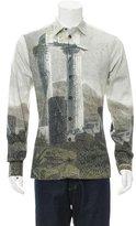 Dolce & Gabbana Stone Tower Print Button-Up Shirt w/ Tags