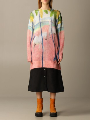 Stella Jean Sweater Horses Jacquard Crewneck
