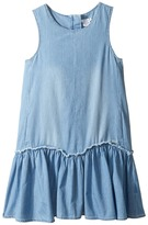Chloe Kids - Denim Effect Sleeveless Dress From Adult Collection Girl's Dress