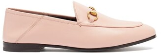 Gucci Brixton Collapsible Heel Leather Loafers - Womens - Pink