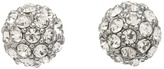 Juicy Couture Juicy At Heart Pave Fireball Stud Earrings (Silver) - Jewelry