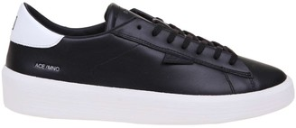 D.A.T.E Black Leather Sneakers