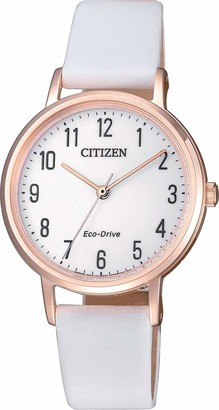 Citizen Womens Analogue Quartz Watch with Leather Strap EM0579-14A