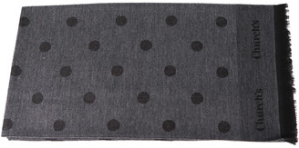 Church's Churchs Grey Wool All Over Polka Dots Scarf