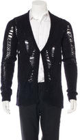 Givenchy Distressed Single Button Cardigan