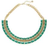 House Of Harlow Malachite Dynasty Bib Necklace