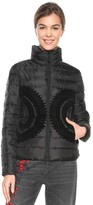 Desigual Short Fitted Padded Jacket with High Neck