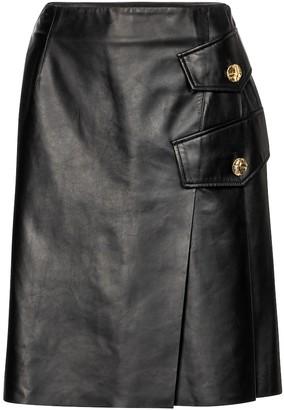 Proenza Schouler Leather midi skirt