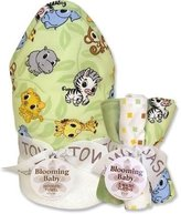 Trend Lab Chibi Zoo Wash Bouquet and Hooded Towel Set