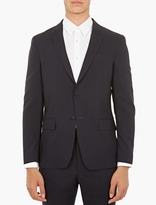 Officine Generale Navy Slim-Fit Wool Blazer