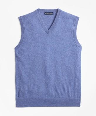 Brooks Brothers V-Neck Cashmere Sweater Vest