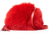 Loeffler Randall Fox Fur Pouch Crossbody