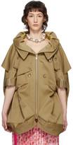 Junya Watanabe Beige Short Sleeve Trench Coat
