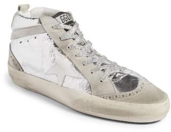 Golden Goose Mid Star Metallic Sneaker