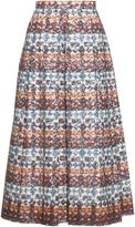 No.21 NO. 21 High-waist lace midi skirt