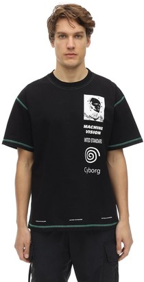 United Standard Cyborg Print Cotton Jersey T-Shirt