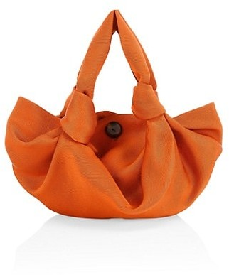 The Row Ascot Two Washed Satin Hobo Bag