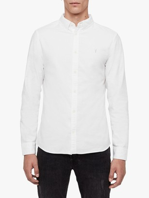 AllSaints Hungtingdon Long Sleeve Slim Fit Shirt