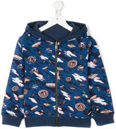 Paul Smith UFO print hoodie - kids - Cotton/Spandex/Elastane - 2 yrs