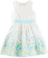 Osh Kosh Toddler Girl Floral Border Print Sateen Dress