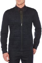 Perry Ellis Big & Tall Quilted Front Knit Full-Zip Shirt Jacket
