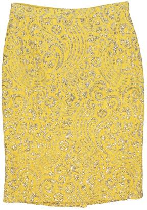 Dolce & Gabbana Yellow Silk Skirts