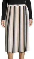 Calvin Klein Pleated Striped Skirt