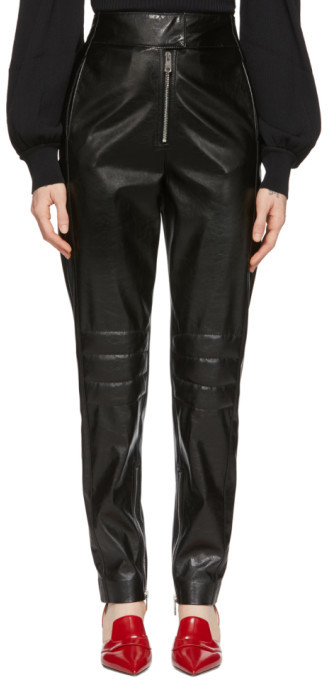 MSGM Black Biker Trousers