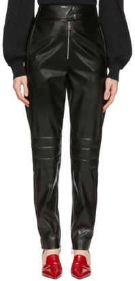 MSGM Black Biker Trousers