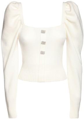 Giuseppe di Morabito Wool Knit Top W/ Jewel Buttons