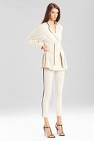 Josie Natori Stretch Cotton Linen Jacket
