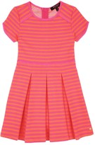 Juicy Couture Girls Knit Ottoman Stripe Dress