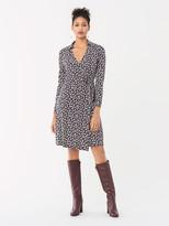 Diane von Furstenberg Jeannie Silk-Jersey Knee-Length Wrap