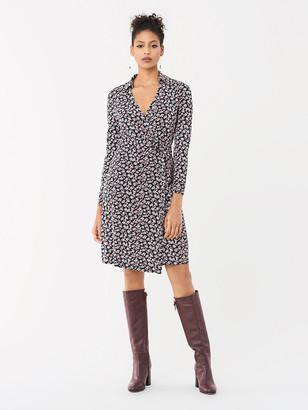 Diane von Furstenberg Jeannie Silk-Jersey Knee-Length Wrap Dress