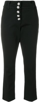 Dondup Cropped High Waisted Trousers