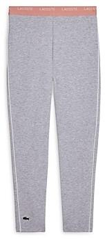 Lacoste Girls' Stretch Jersey Leggings - Little Kid, Big Kid