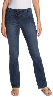 Free People Eva Lace-Up Bootcut Jeans