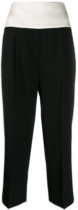 Givenchy Contrasting Band Cropped Trousers