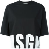 MSGM logo T-shirt - women - Cotton - S