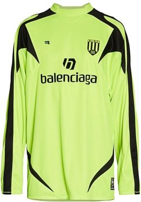 Balenciaga Long-Sleeve Soccer T-Shirt