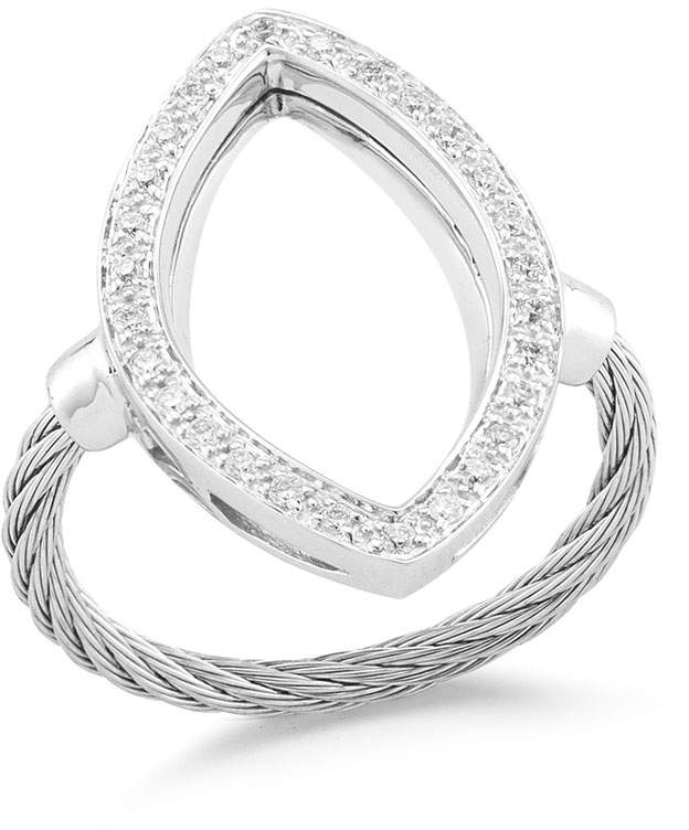 Alor Open Diamond Pave Marquise Ring, Size 6.5