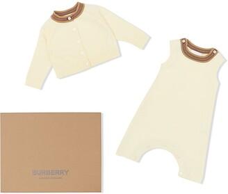 BURBERRY KIDS Icon Stripe babygrow set