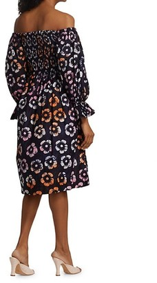 Busayo Anike Printed Off-The-Shoulder Dress