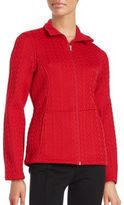 Spyder Cable-Knit Zip-Front Jacket