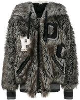 Dolce & Gabbana Wolf hood bomber jacket