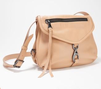 Aimee Kestenberg Double Entry Leather Messenger Bag